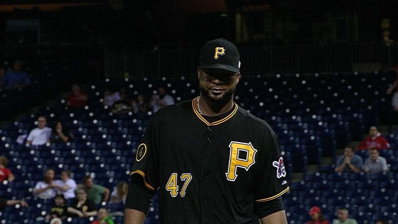 Off-day doesn't lead Pirates to alter rotation