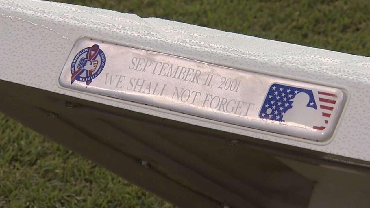 Baseball honors 9/11 victims, heroes
