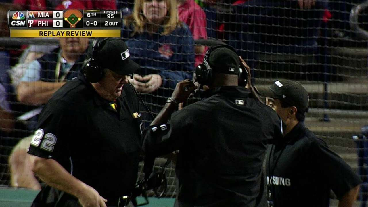 Phillies lose challenge, can't finish frame fast enough
