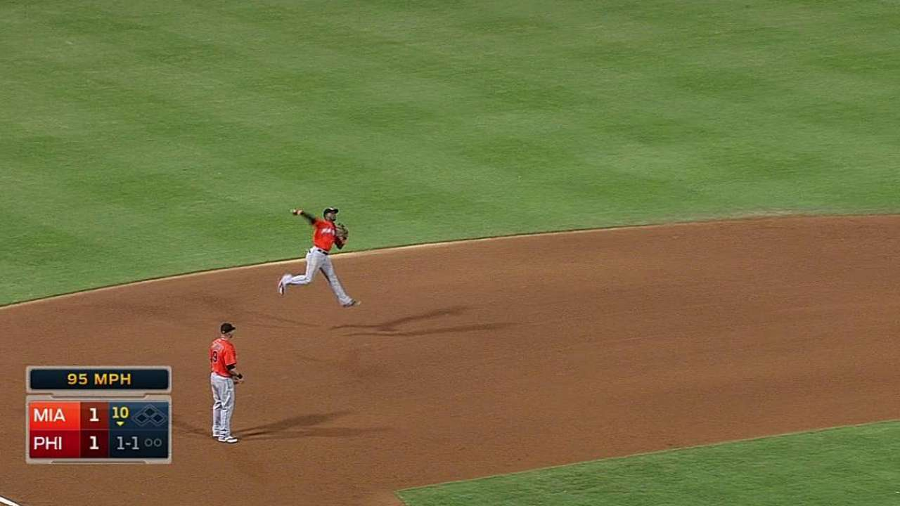 Marlins can't convert for Alvarez, fall in 10