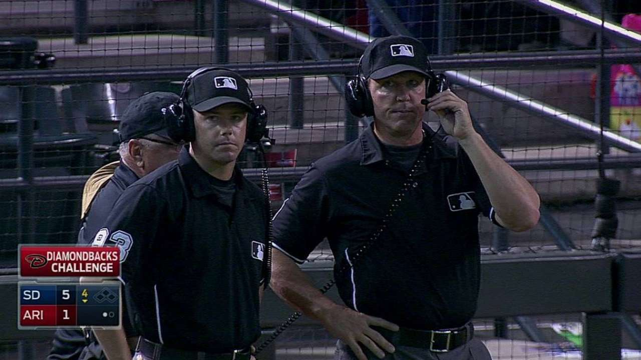 D-backs lose challenge on bang-bang play at first