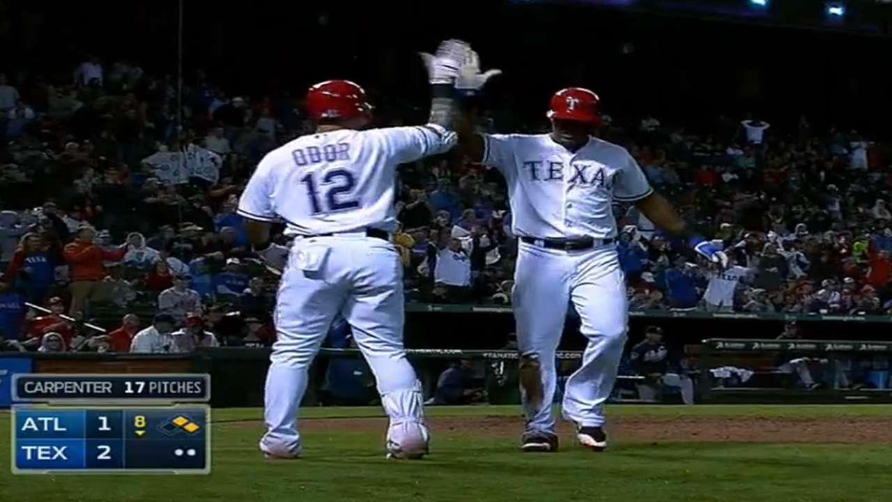 Rangers vencen a Bravos con el hit de Chirinos