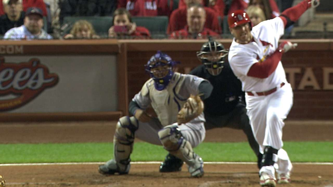 Deep blast from Holliday drives Cards' cause