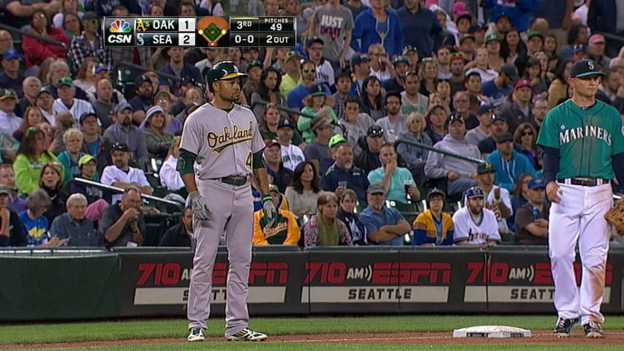 A's see Wild Card lead shrink in Seattle opener