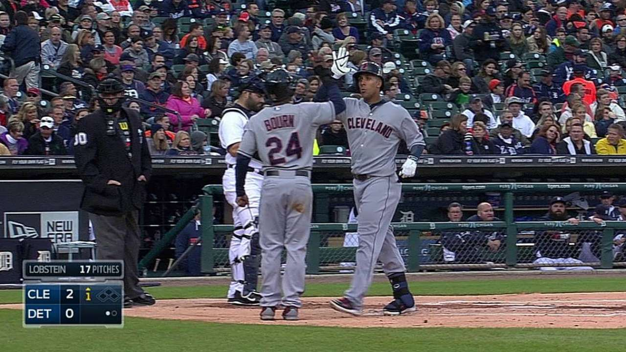 Big hits not enough to prevent Indians' late loss