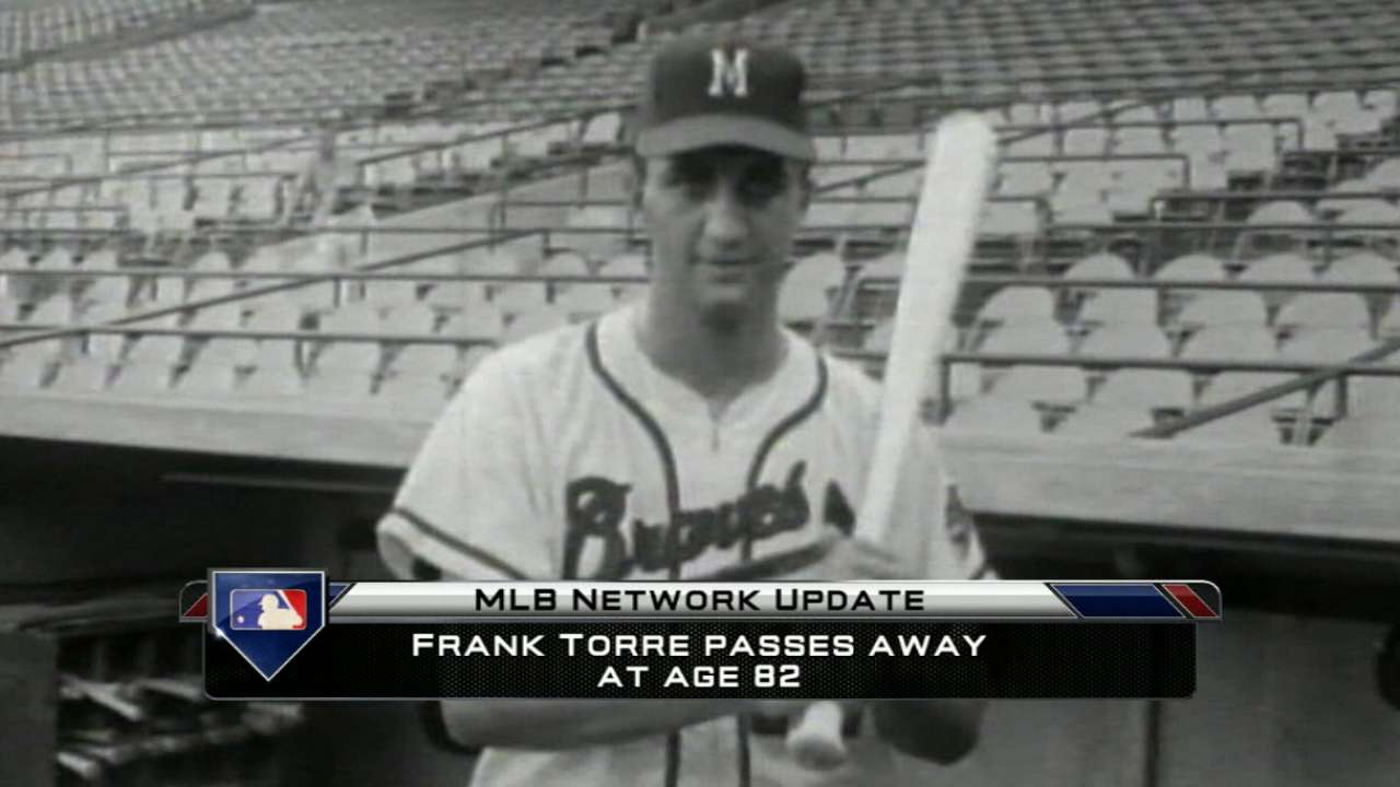 Crew broadcaster Uecker fondly remembers Frank Torre