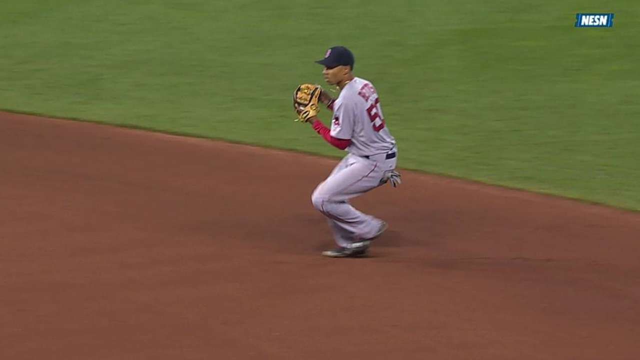Betts returns to natural position of second base