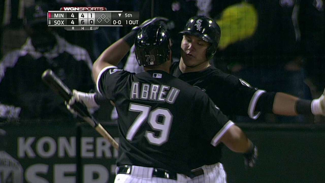 Abreu makes rookie history by reaching 100 RBIs