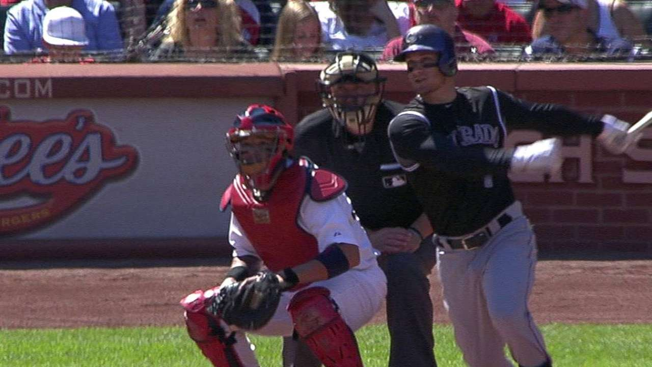 Rockies strike out 16 times in loss to Cards