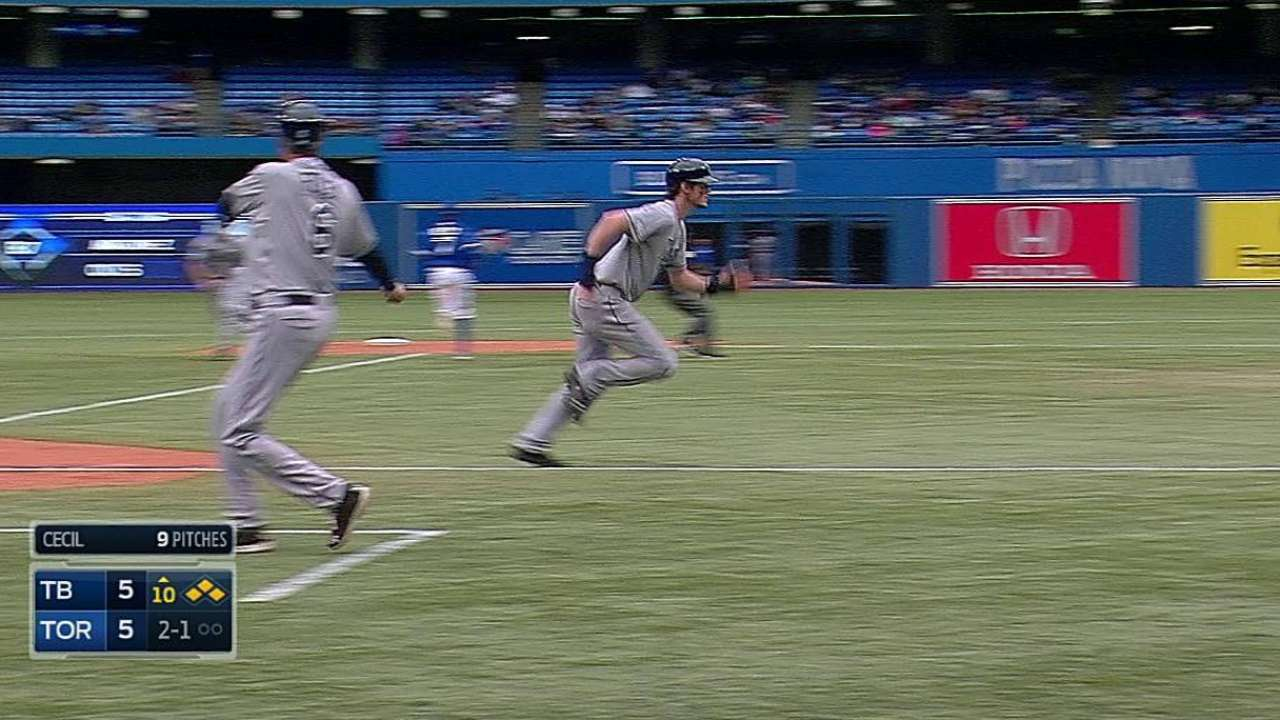 Rays answer Jays' comeback with 10-inning win