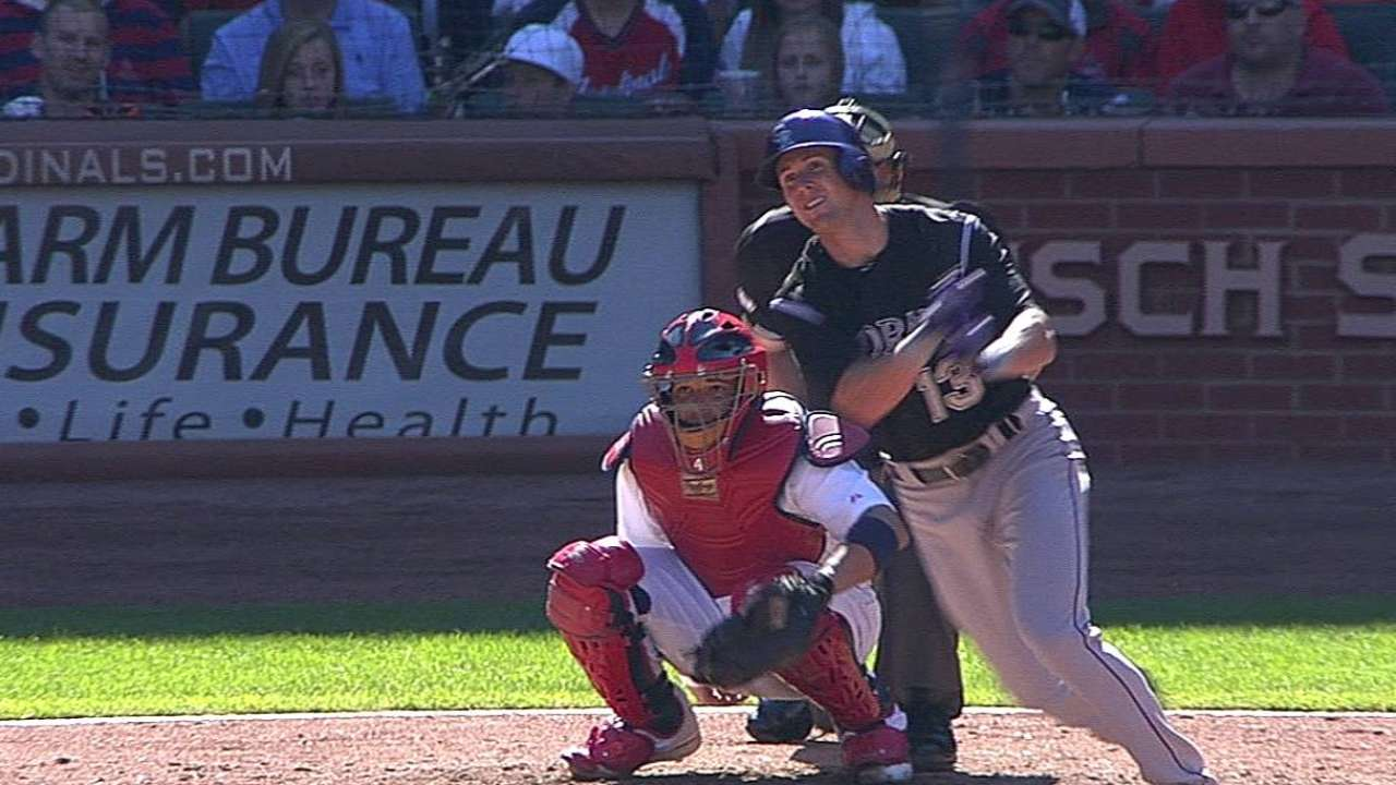 Stubbs' two-out triple