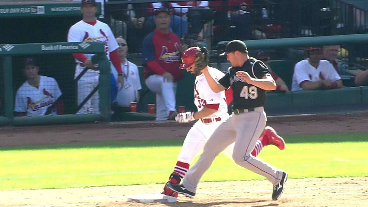 Descalso safe at first as Cards win challenge