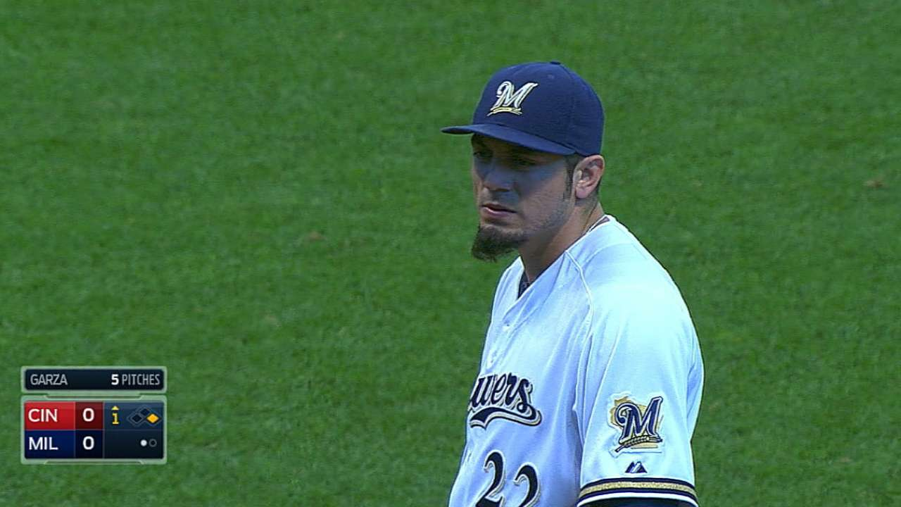 With Brewers eliminated, Garza shut down