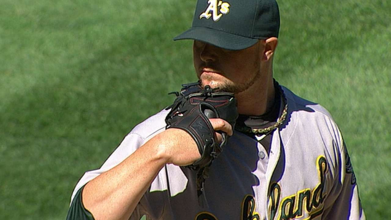 Lester helps A's pad Wild Card lead