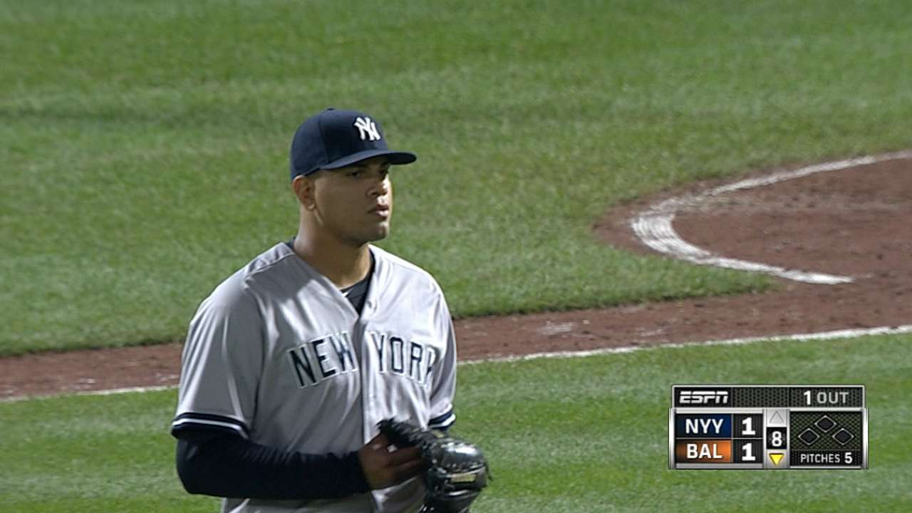 Tying Mo's club whiff record, Betances feeling 'thankful'