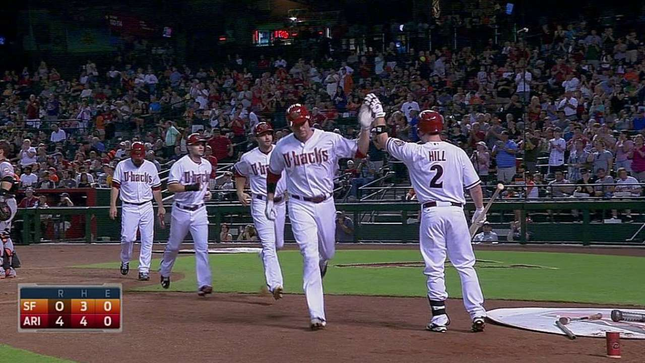 Miley cruises, backed by Trumbo's grand slam