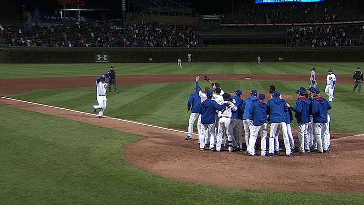 Back at it: Rizzo returns with walk-off homer