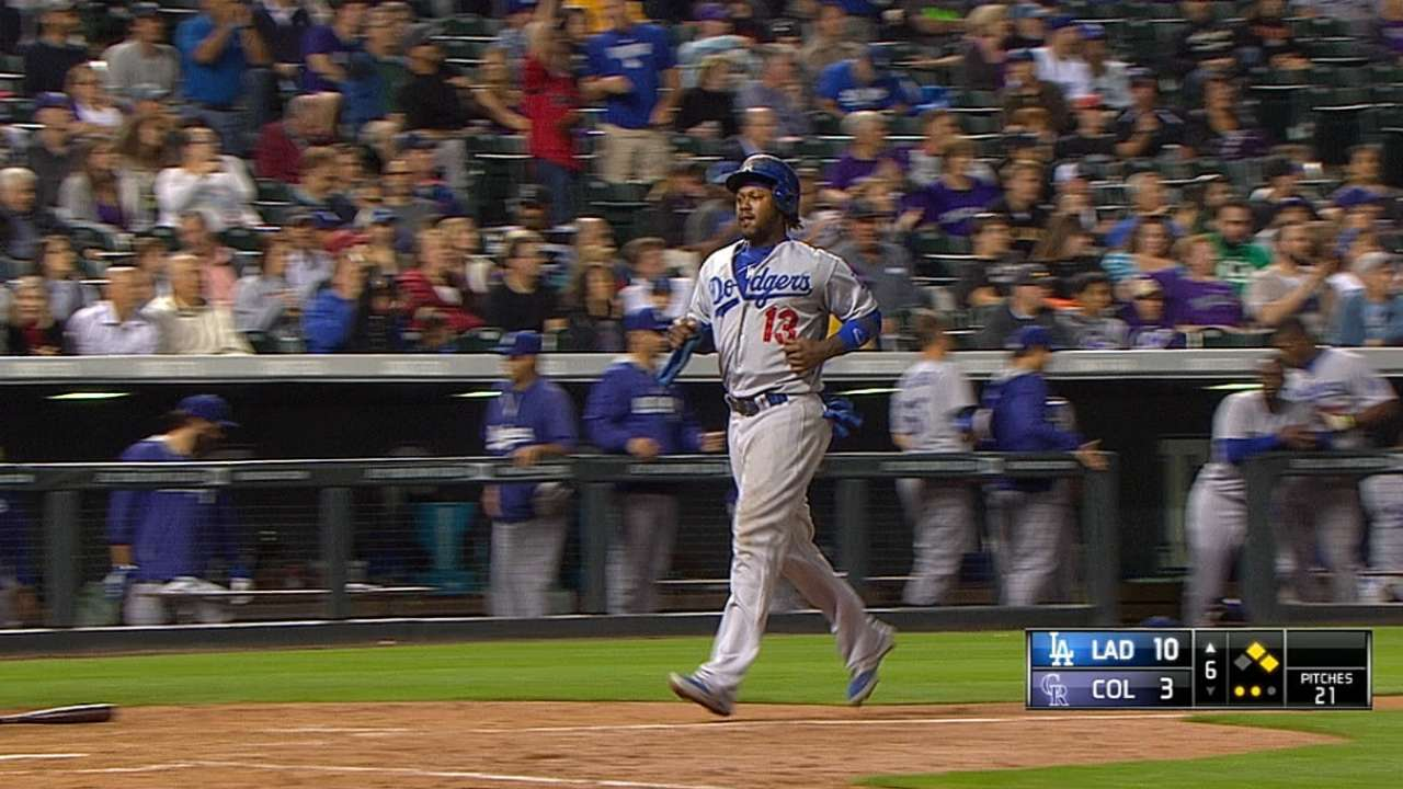 Eight-run sixth helps Dodgers stretch NL West lead