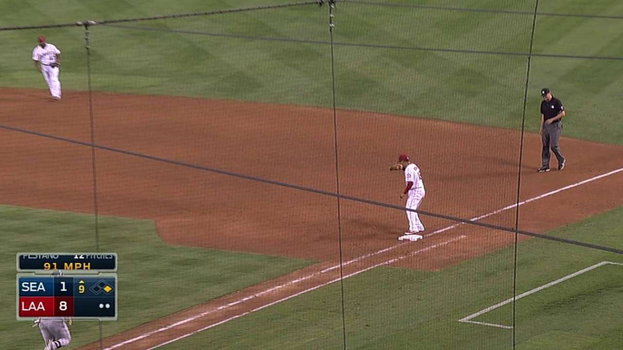 Angels rout Mariners to secure playoff berth