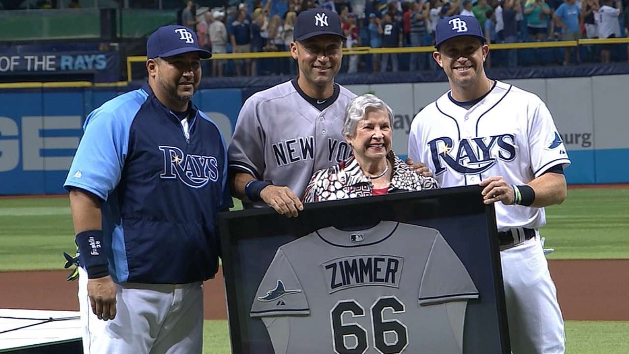 Zimmer jersey highlights Rays' Jeter tribute