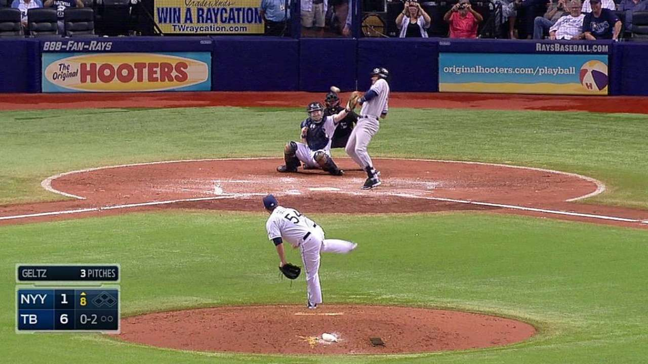 Yanks' frustrations boil over in loss to Rays