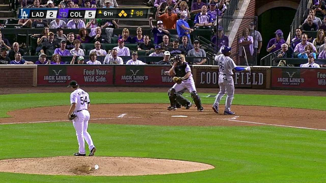 Rox looking for Kahnle to stay tough on lefty hitters