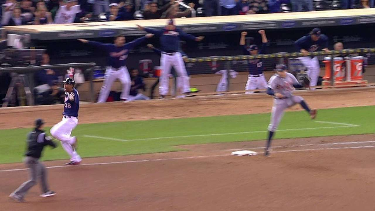 Hicks the hero as Twins walk off over Tigers