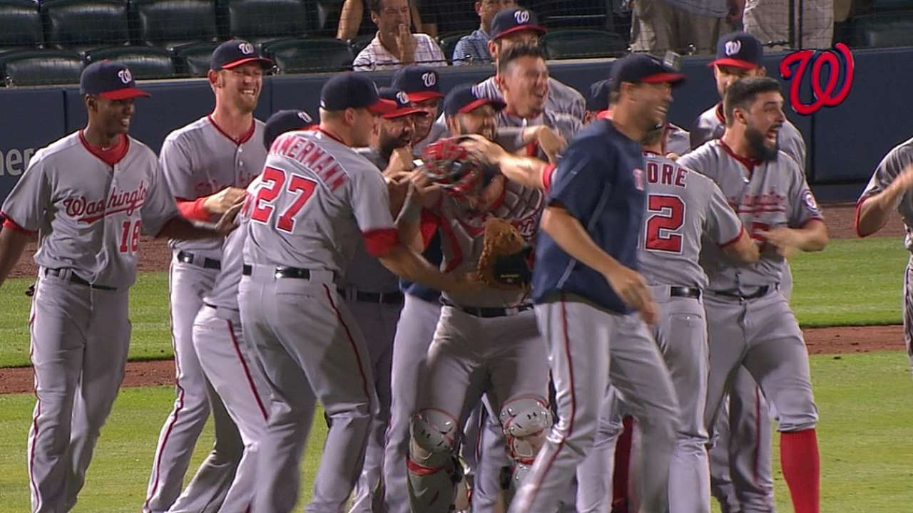 Nats assured of home-field advantage in NLDS