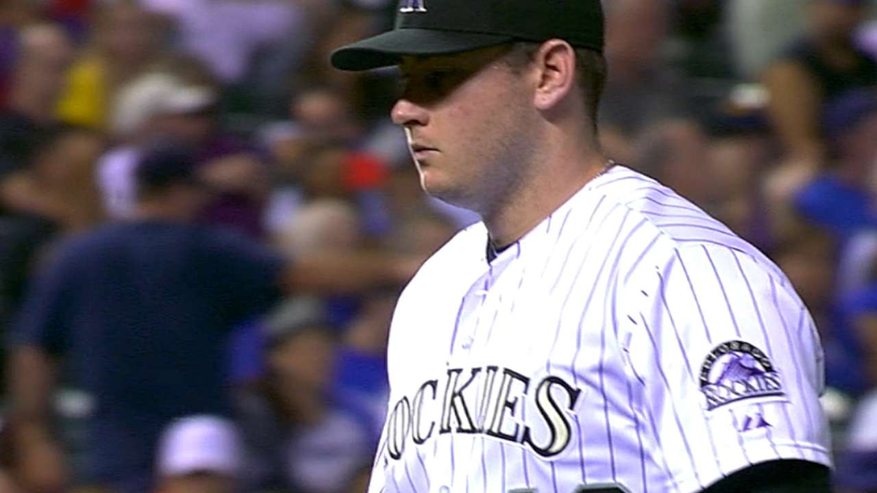 Matzek shows his mettle as Rockies thump Dodgers