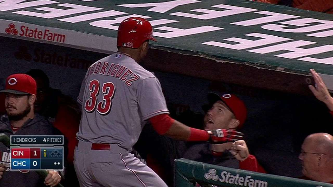 Reds' offense continues struggle in loss to Cubs