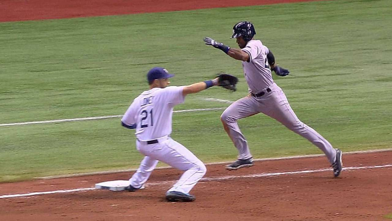 Call quickly overturned after Rays' challenge