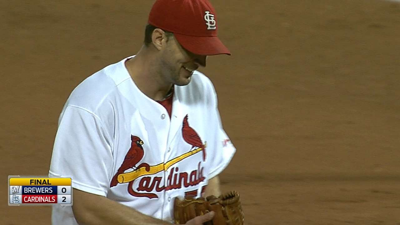 Waino blanks Crew as Cards keep Central pace