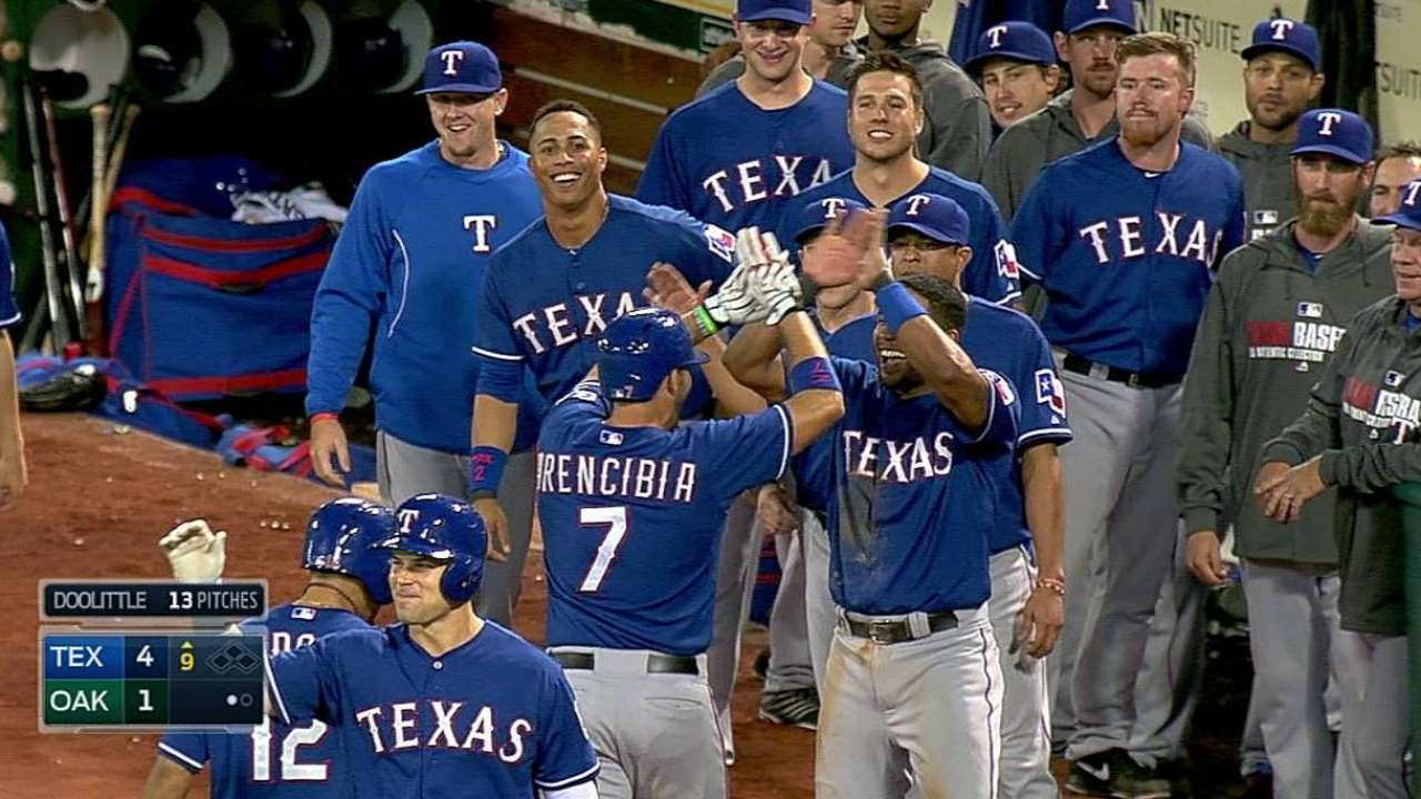 Rangers outright six, including Kouzmanoff and Arencibia