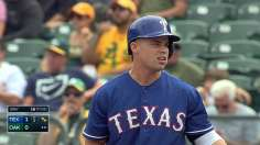 Rangers ride huge first inning to sweep over A's