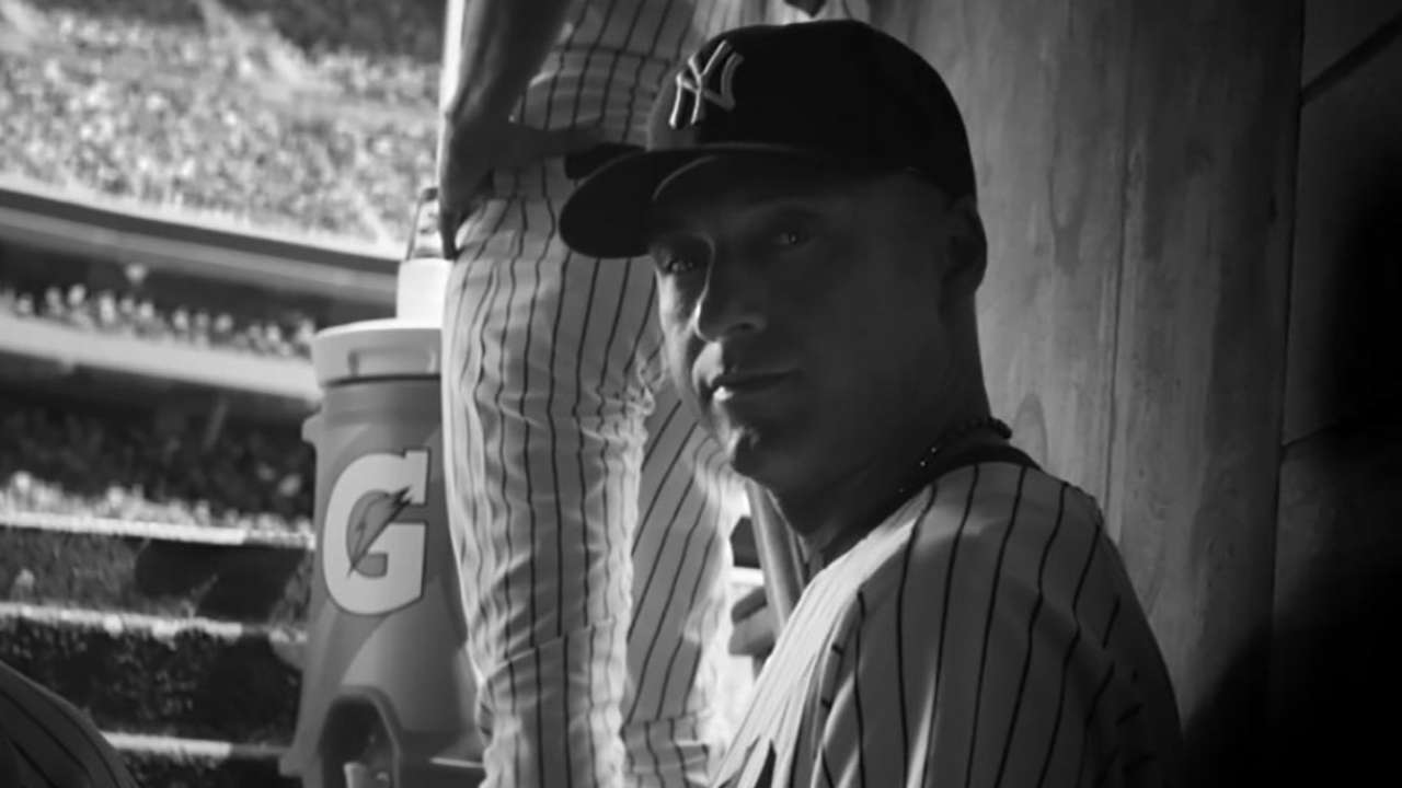 Jeter thanks fans in special commercial, then homers