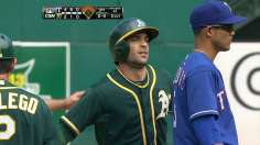 Loss to Rangers drops A's to second Wild Card spot