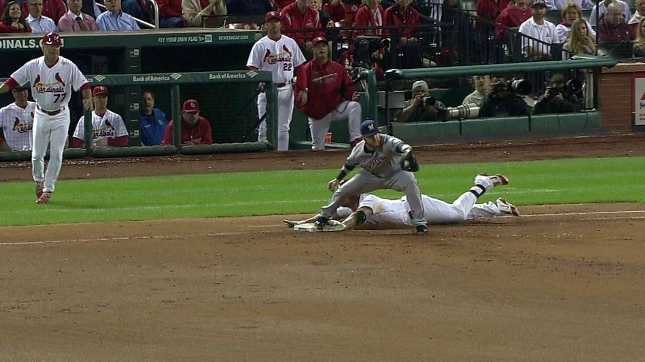 Matheny not a fan of players sliding headfirst