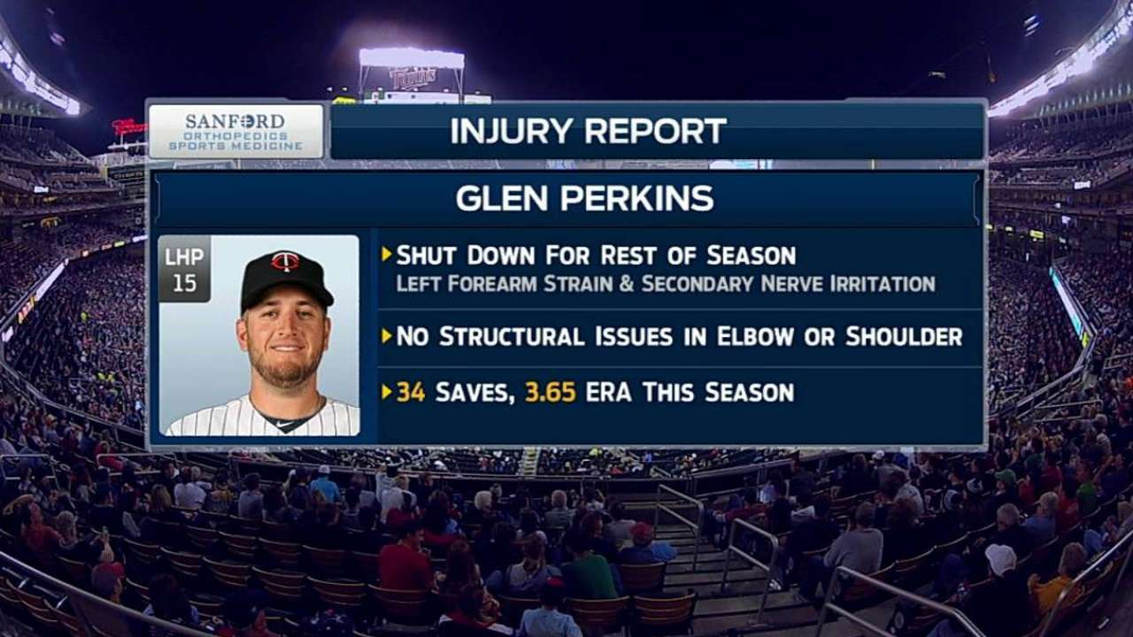 Perkins relieved arm injury won't require surgery