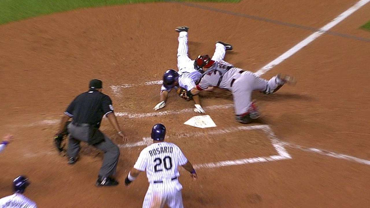 out call stands after home plate review in colorado mlb com