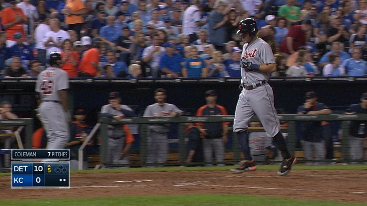 Tigers' bats blast Royals to stretch Central lead