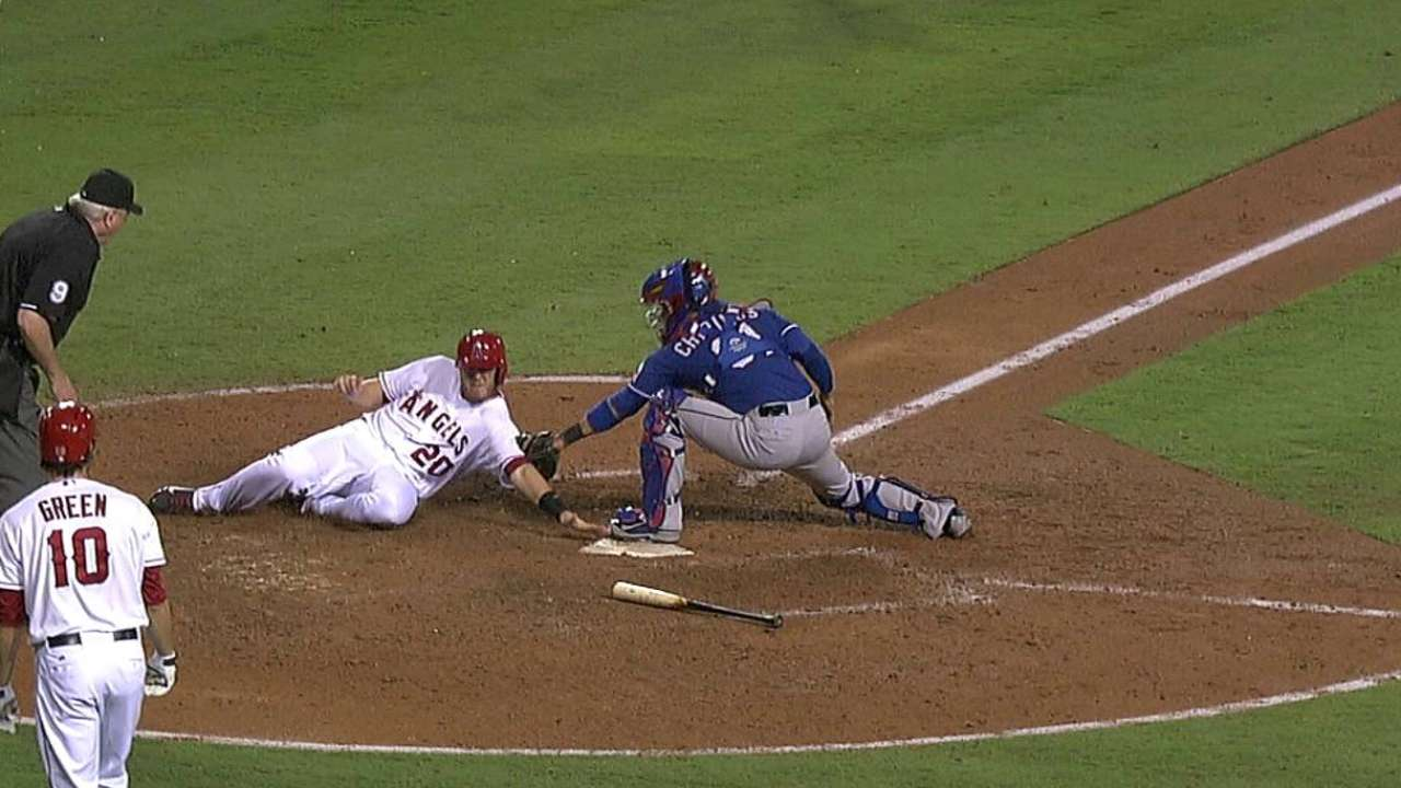 Angels lose challenge on play at plate