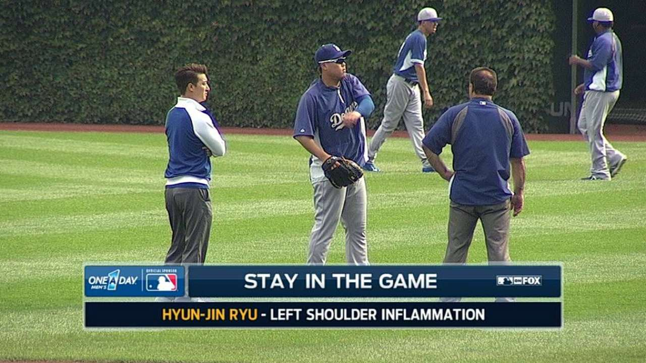 Ryu to toss simulated game in bid for Game 3 start