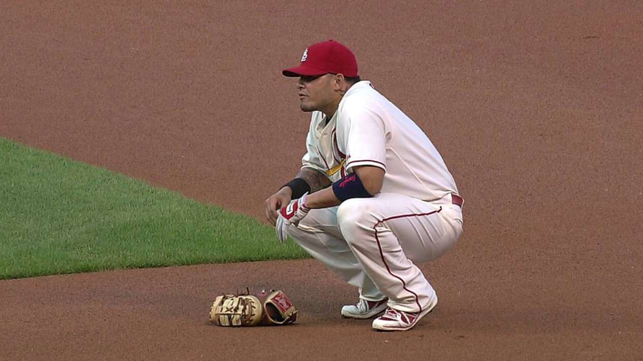 With Adams out, Molina makes rare start at first