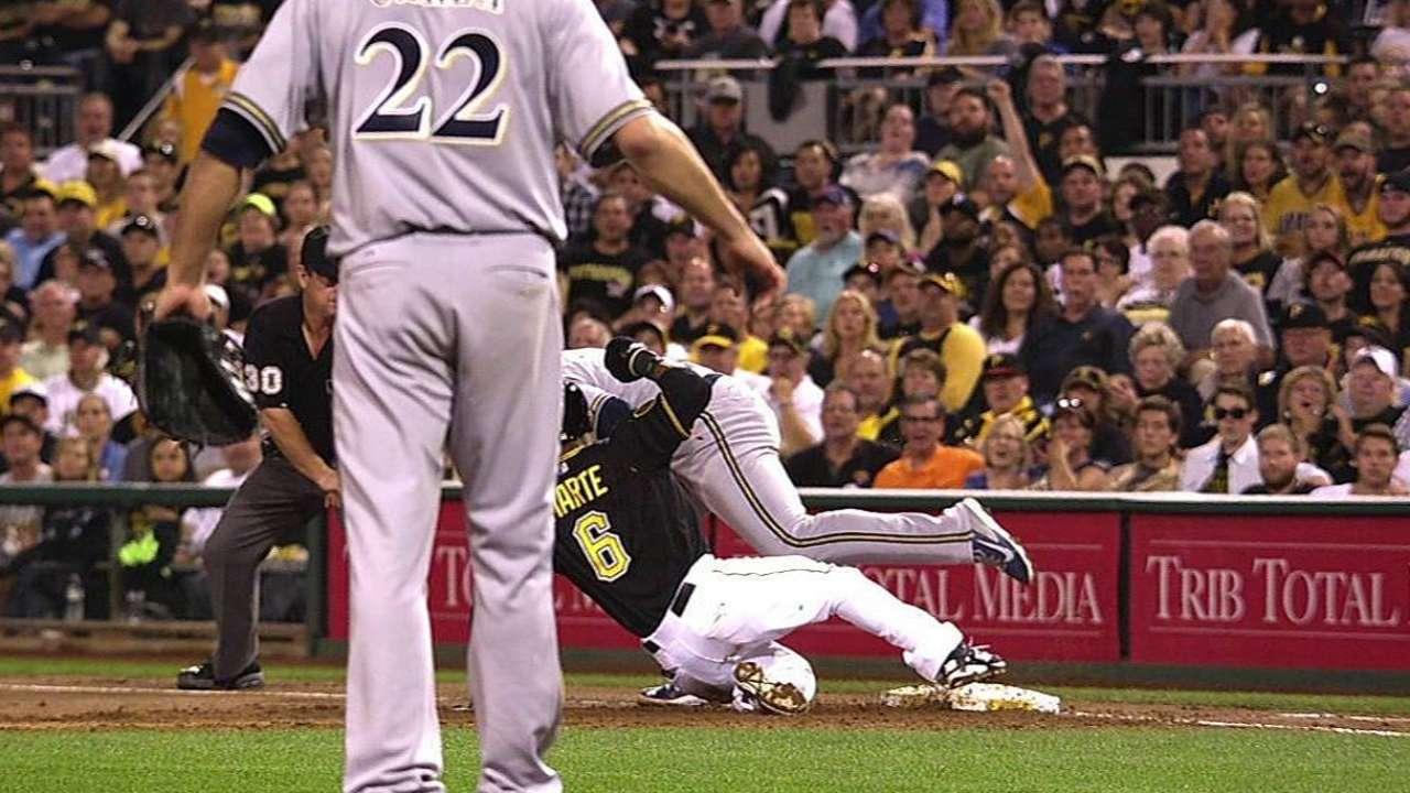 Pirates win challenge, get out call overturned