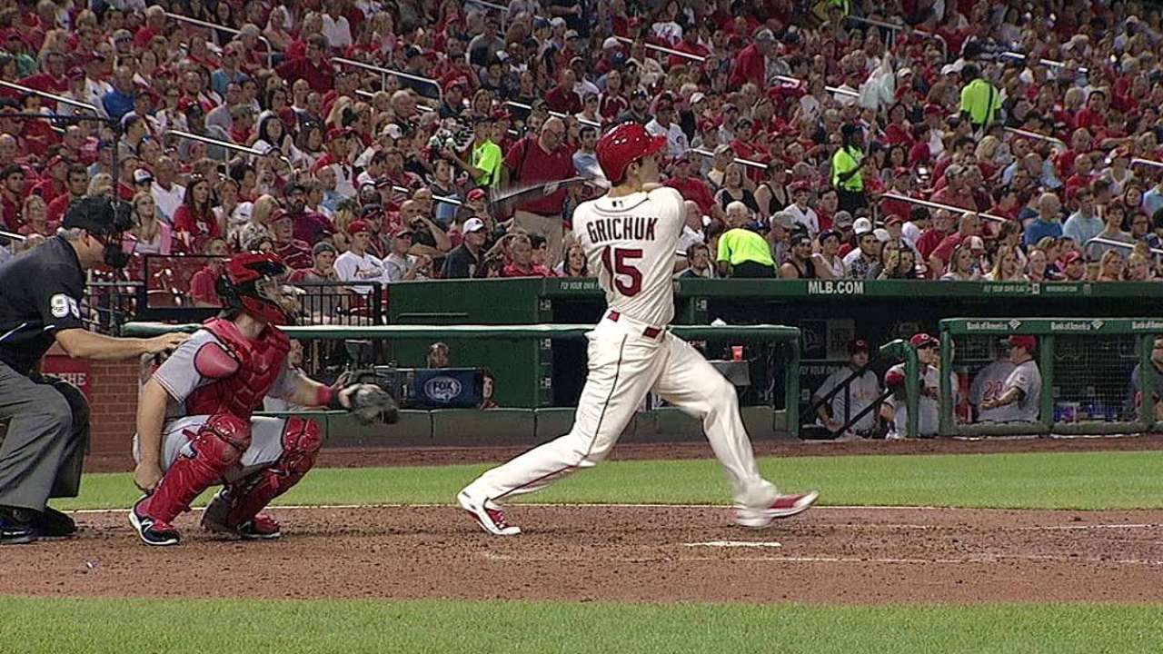 Grichuk becoming established weapon against lefties