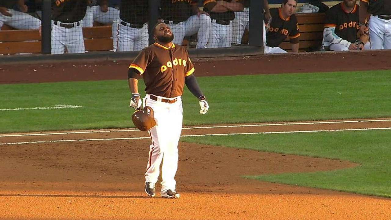 Sprained ankle forces Almonte's early exit