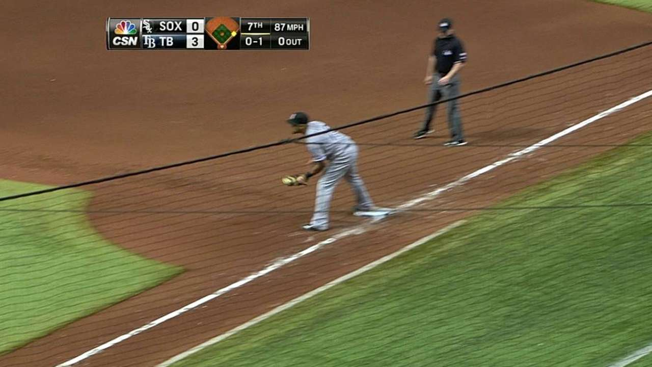Ofensiva de White Sox fue dominada por Rays