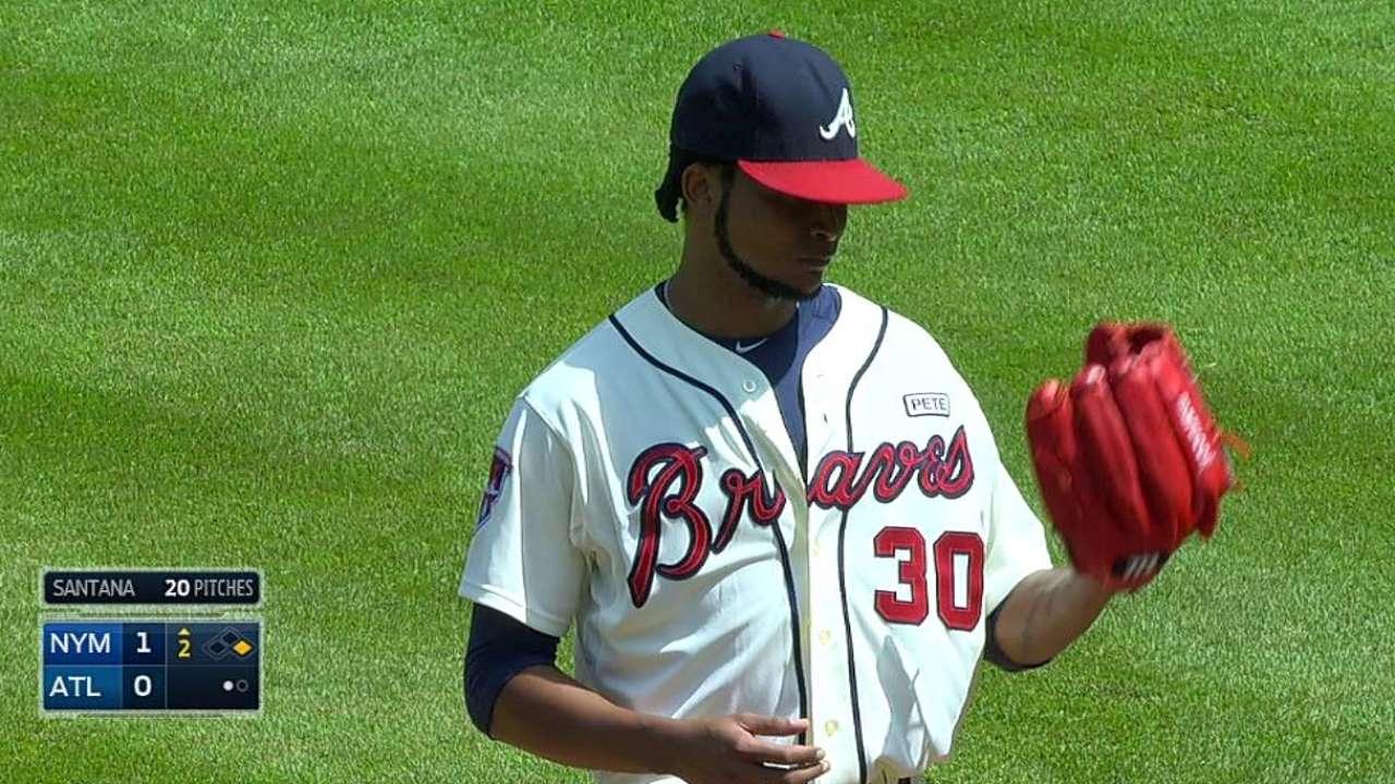 Santana tallies 1,500th career strikeout