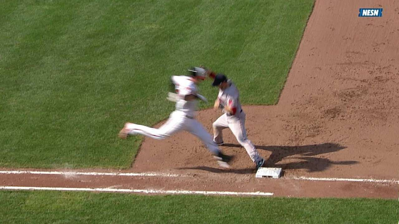 Call upheld in Red Sox-Orioles finale
