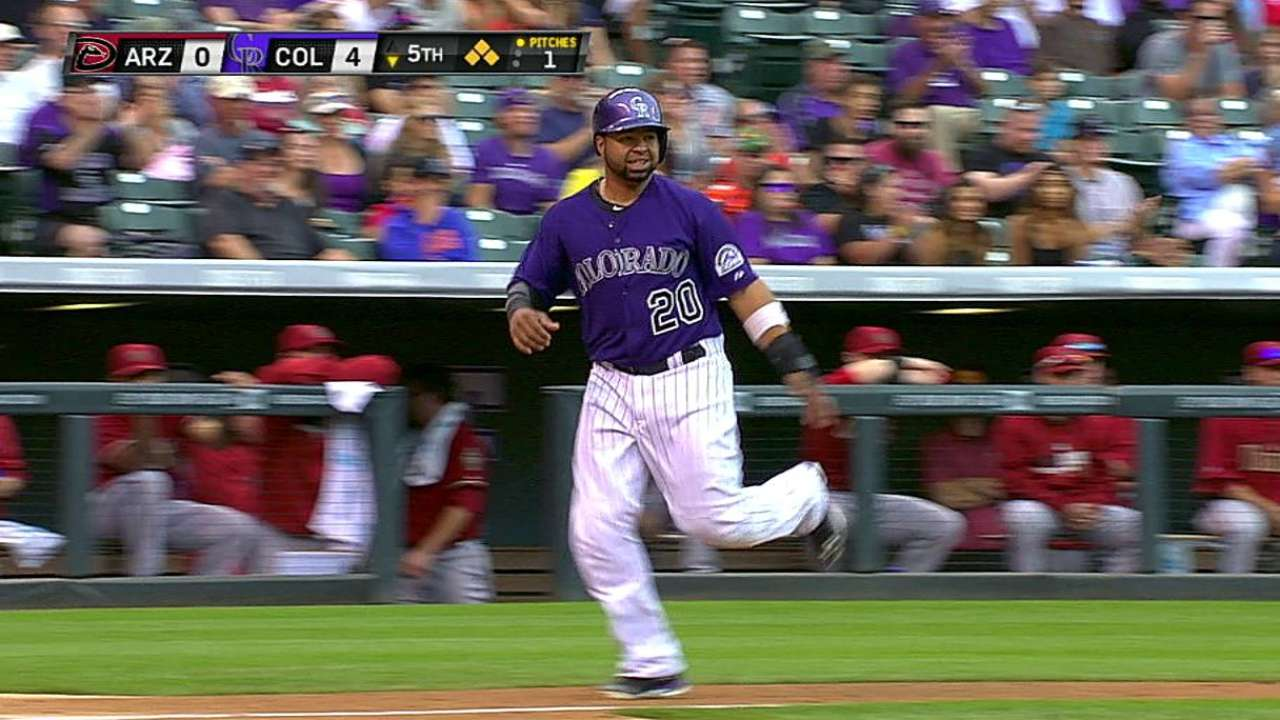 Buen ataque de Rockies selló barrida ante D-backs